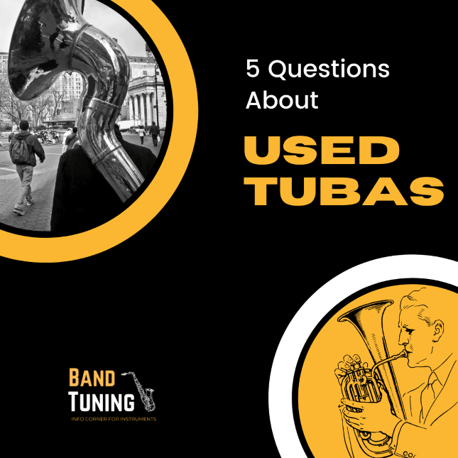 Banner of 5 questions about used tubas