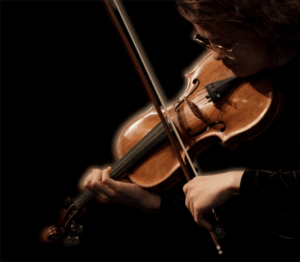 A girl playing the violin