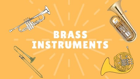 Brass Instruments of a band