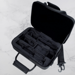 Different compartments of a Protec Oboe Case