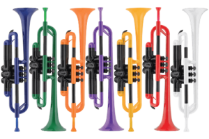 Plastic Trumpets in different colors