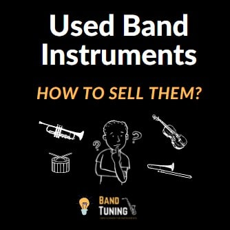 Man thinking about selling used band instruments