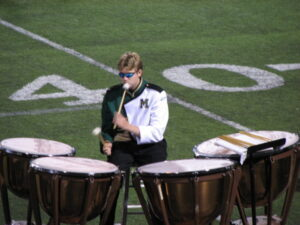 Timpani Performer of a Marching Band