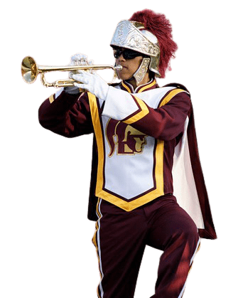 Trumpet Marching Band Player Performing