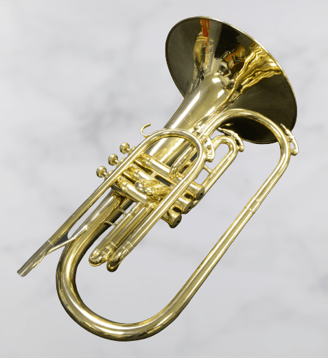 a mellophone laying on the floor