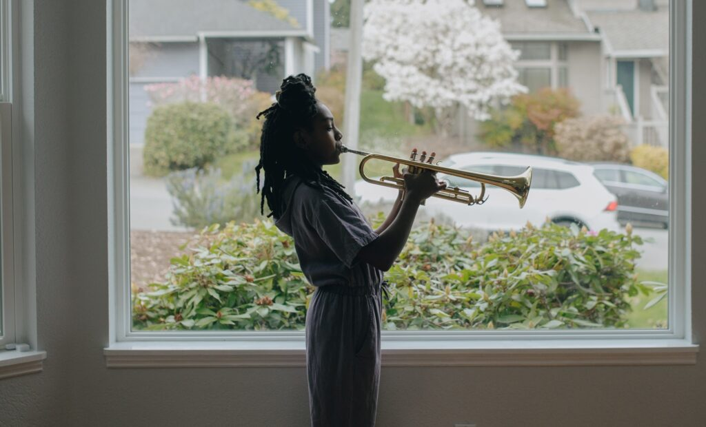 child playing the Trumpet