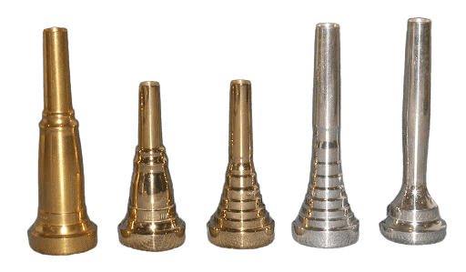 different mouthpieces side by side
